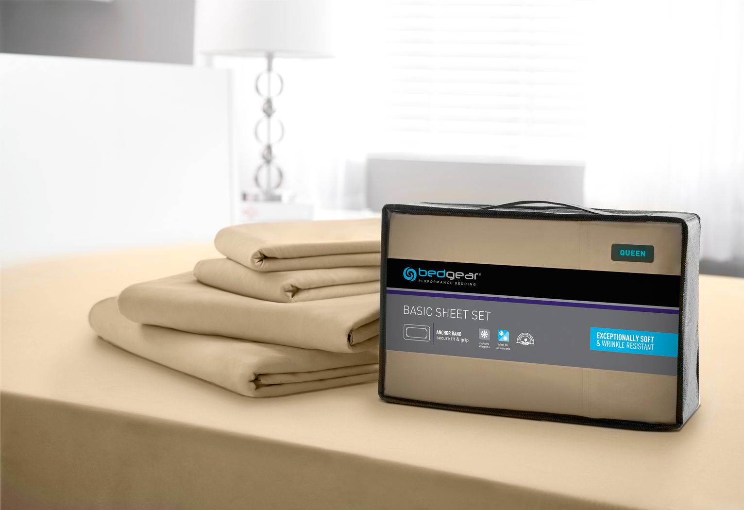 BG Basic Sand 4 Pc King Bed Sheet Set