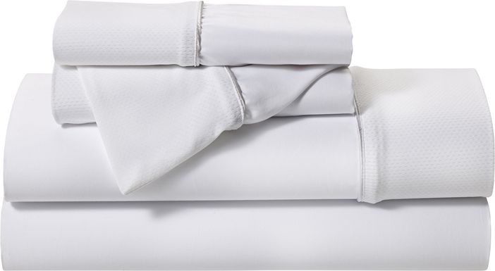 BG Basic White 4 Pc Full Bed Sheet Set