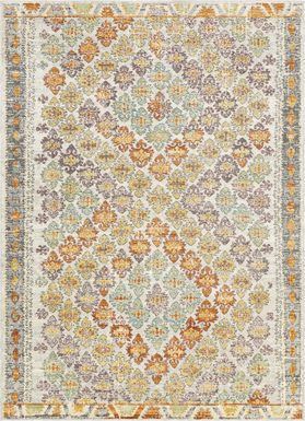 Biana Orange 5'3 x 7'3 Indoor/Outdoor Rug