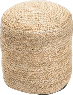 Bickler Natural Pouf