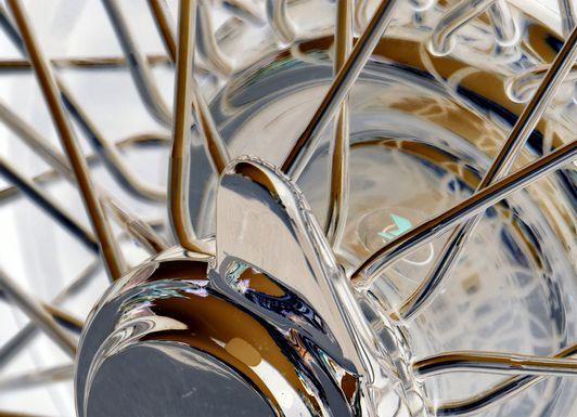 Bicycle Wheel Brown Artwork