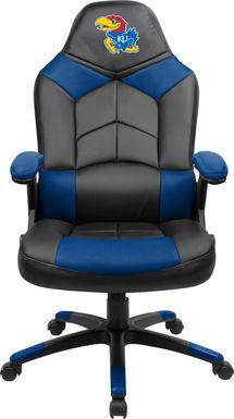 Big Team NCAA University of Kansas Blue Oversized Gaming Chair