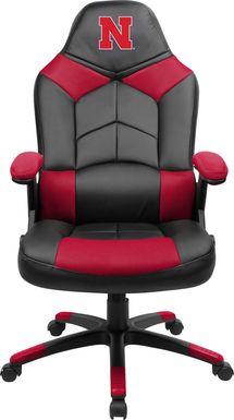 Big Team NCAA University of Nebraska Red Oversized Gaming Chair