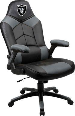 Big Team NFL Las Vegas Raiders Gray Oversized Gaming Chair