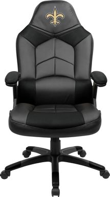 Big Team NFL New Orleans Saints Black Oversized Gaming Chair