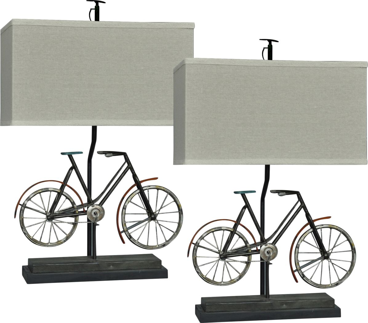 Bikepacking Black Lamp, Set of 2