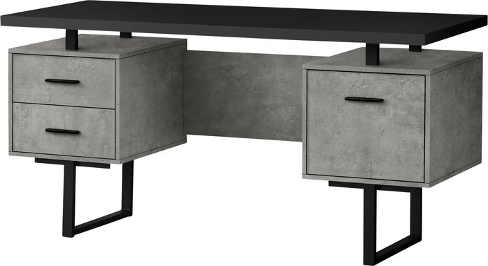 Billingsly Charcoal Desk
