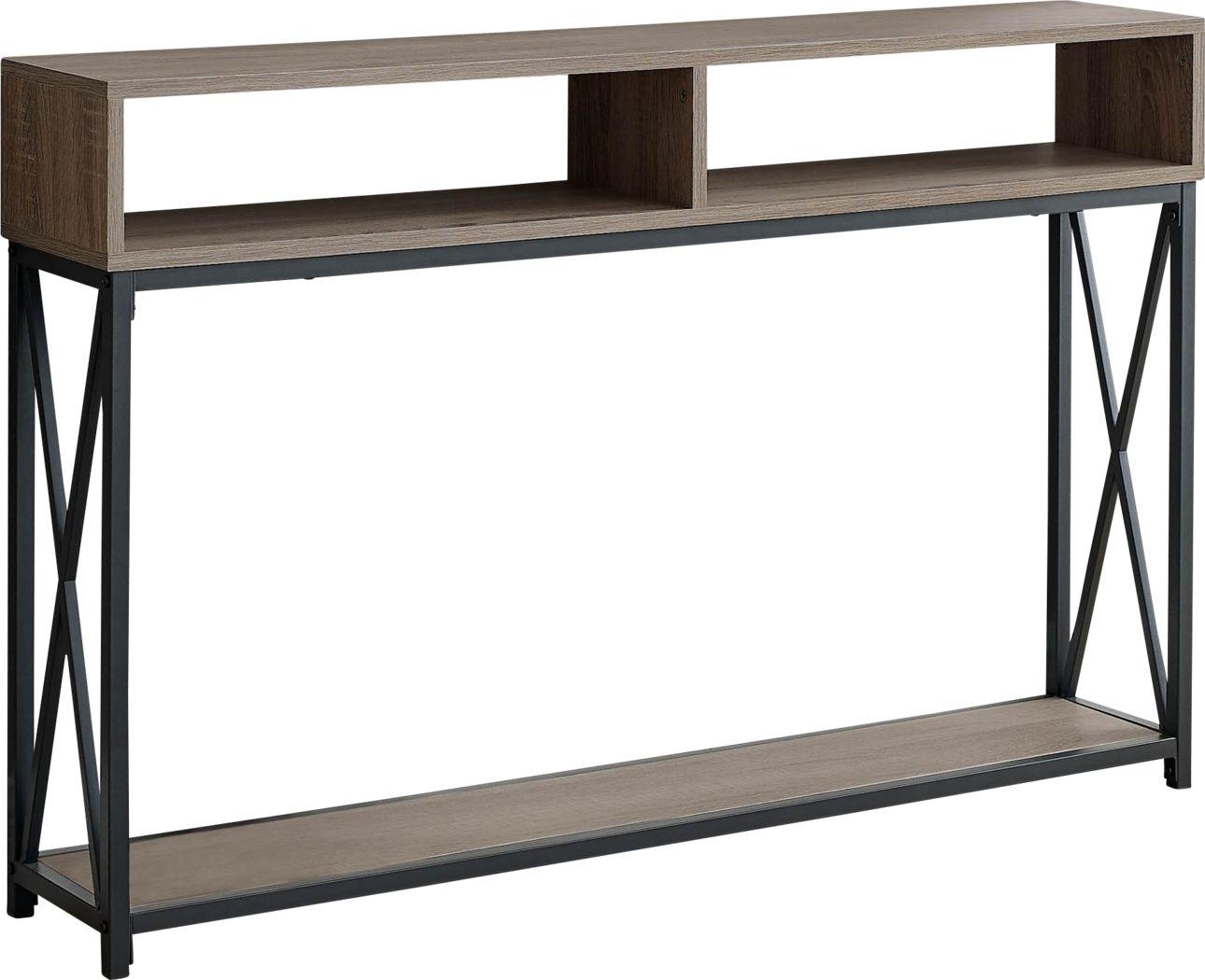 Binghampton Taupe Console Table
