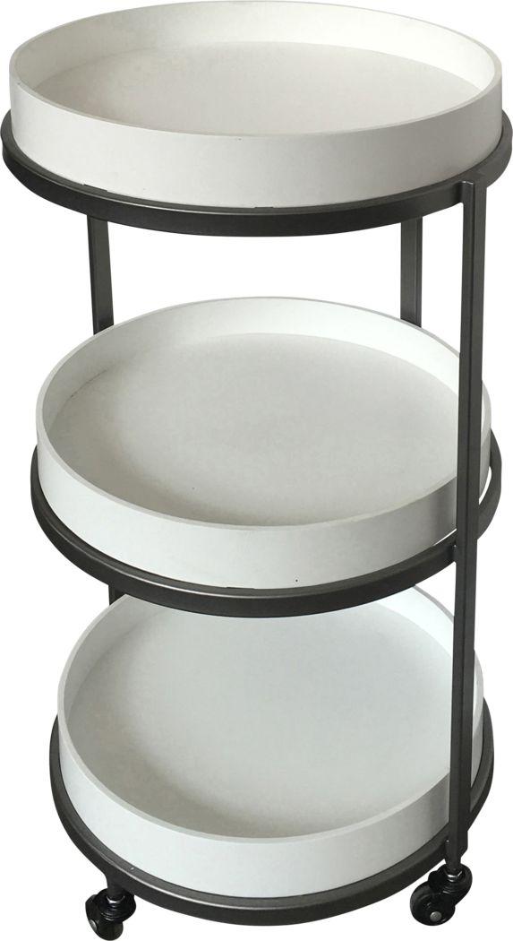 Binnacle White Bar Cart