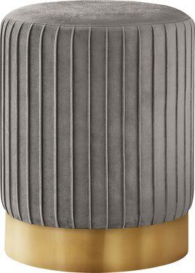 Binnicker Gray Ottoman