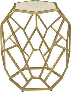 Birchleaf Gold Accent Table