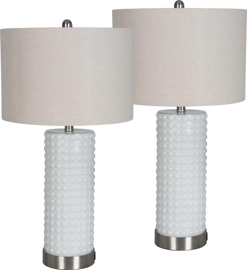 Birscoe White Lamp, Set of 2