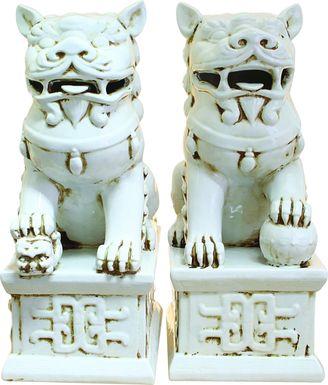 Blaike White Sculpture Set of 2