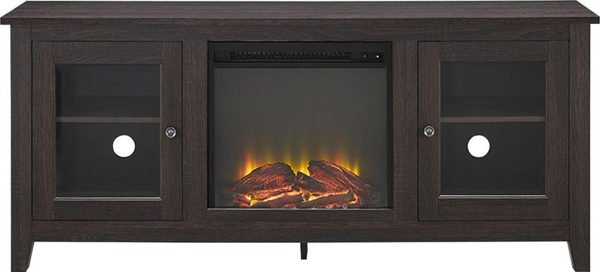 Blaize Espresso 58 in. Console with Electric Fireplace