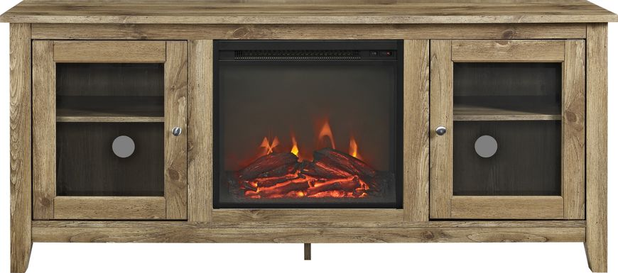 Blaize Natural 58 in. Console with Electric Fireplace