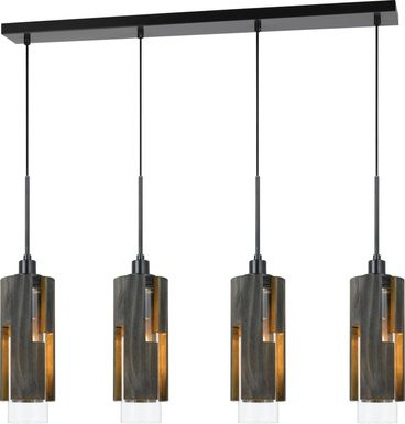 Blakemore Brown 4 Light Chandelier