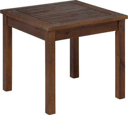 Blandin Dark Brown Outdoor End Table
