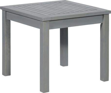 Blandin Gray Outdoor End Table
