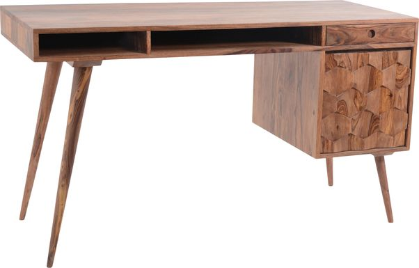 Bloomberry Brown Desk