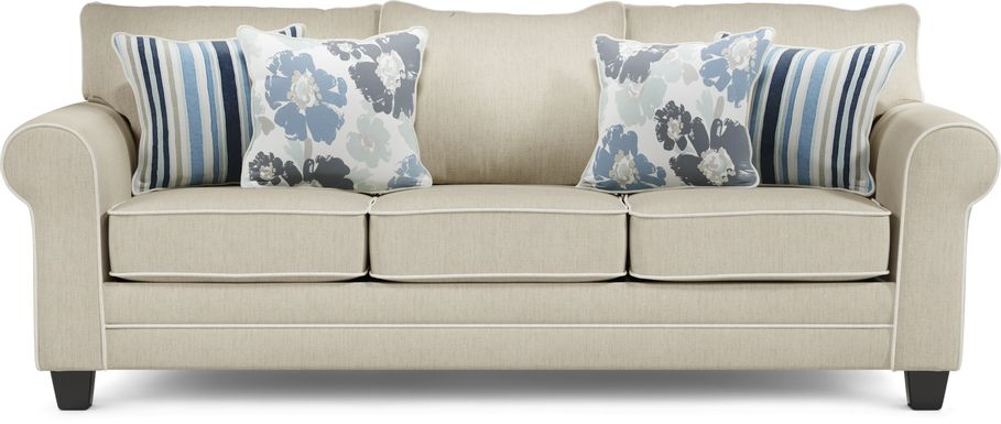 Blossom Fields Beige Sofa