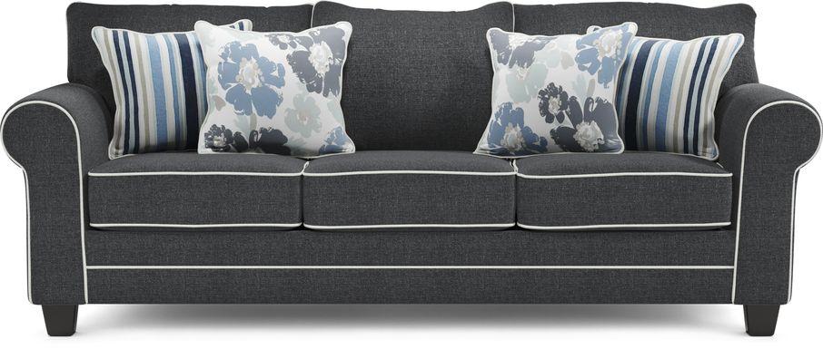 Blossom Fields Blue Sofa