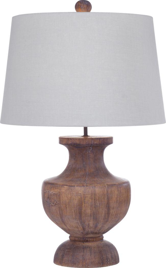 Blossom Lane Brown Lamp