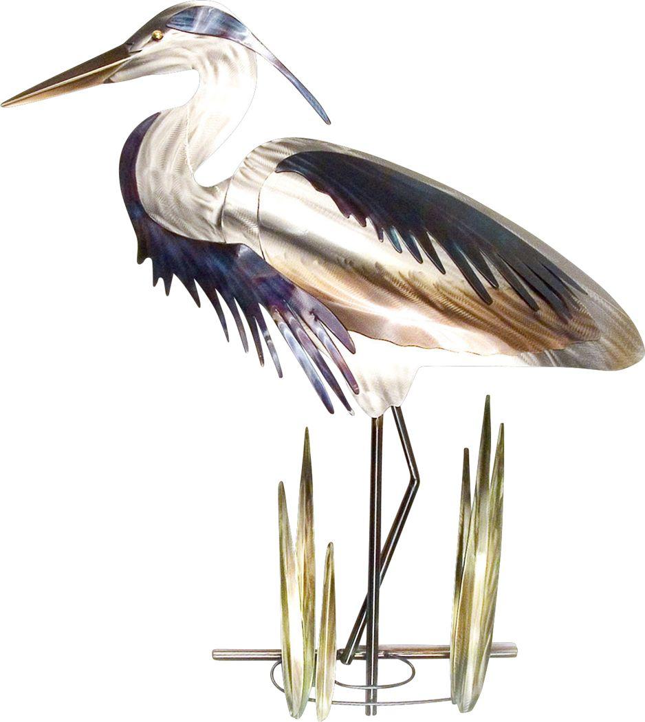 Blue Heron II Silver Outdoor Artwork