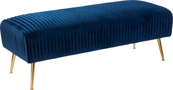 Bluffstone Blue Accent Bench