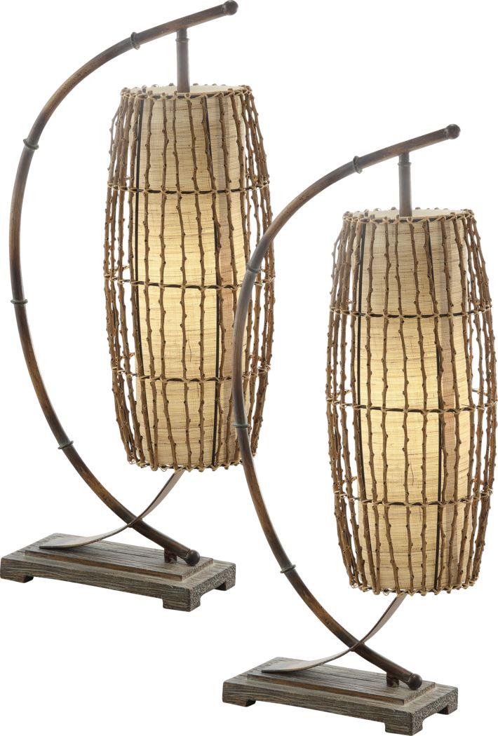 Boleyn Heights Beige Lamp, Set of 2