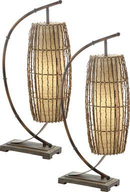 Boleyn Heights Beige Set of 2 Lamps