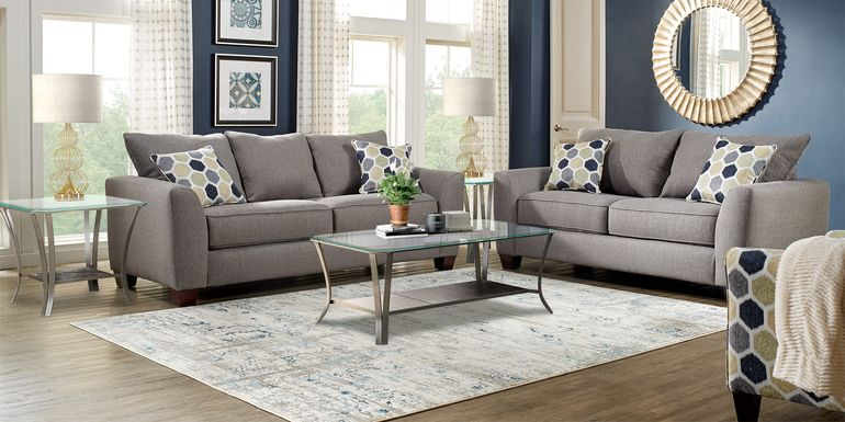 Bonita Springs Gray 7 Pc Living Room