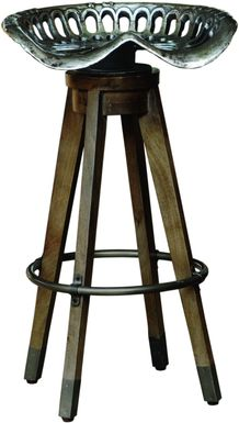 Boone Brown Swivel Barstool