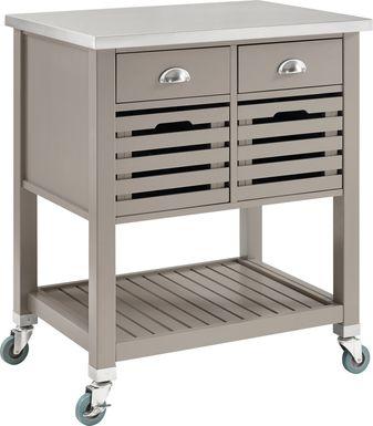 Boriken Gray Kitchen Cart
