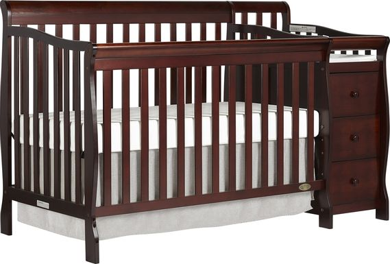 Bosley Espresso Convertible Crib and Changer