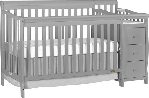 Bosley Gray Convertible Crib and Changer