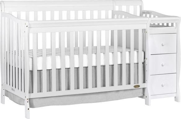 Bosley White Convertible Crib and Changer