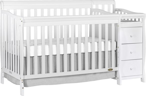 Bosley White Convertible Crib and Changer