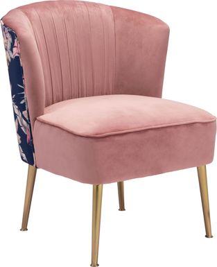 Botanical Eden Pink Accent Chair
