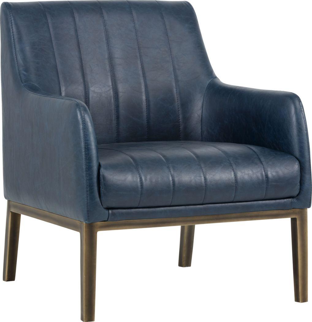 Botella Blue Accent Chair