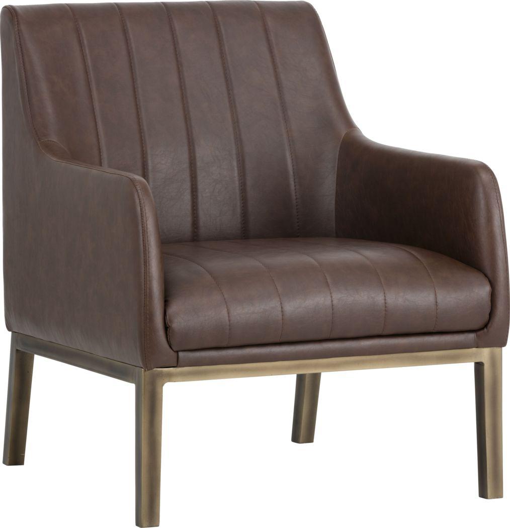 Botella Brown Accent Chair
