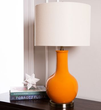 Bourke Orange Lamp