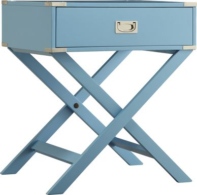 Bowen Blue Accent Table