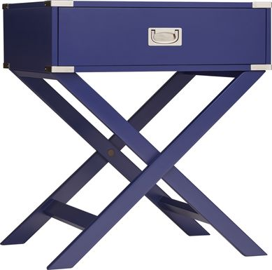 Bowen Navy Accent Table