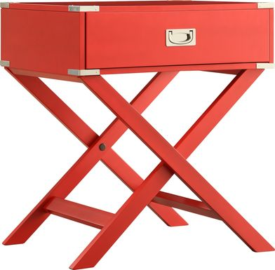 Bowen Red Accent Table
