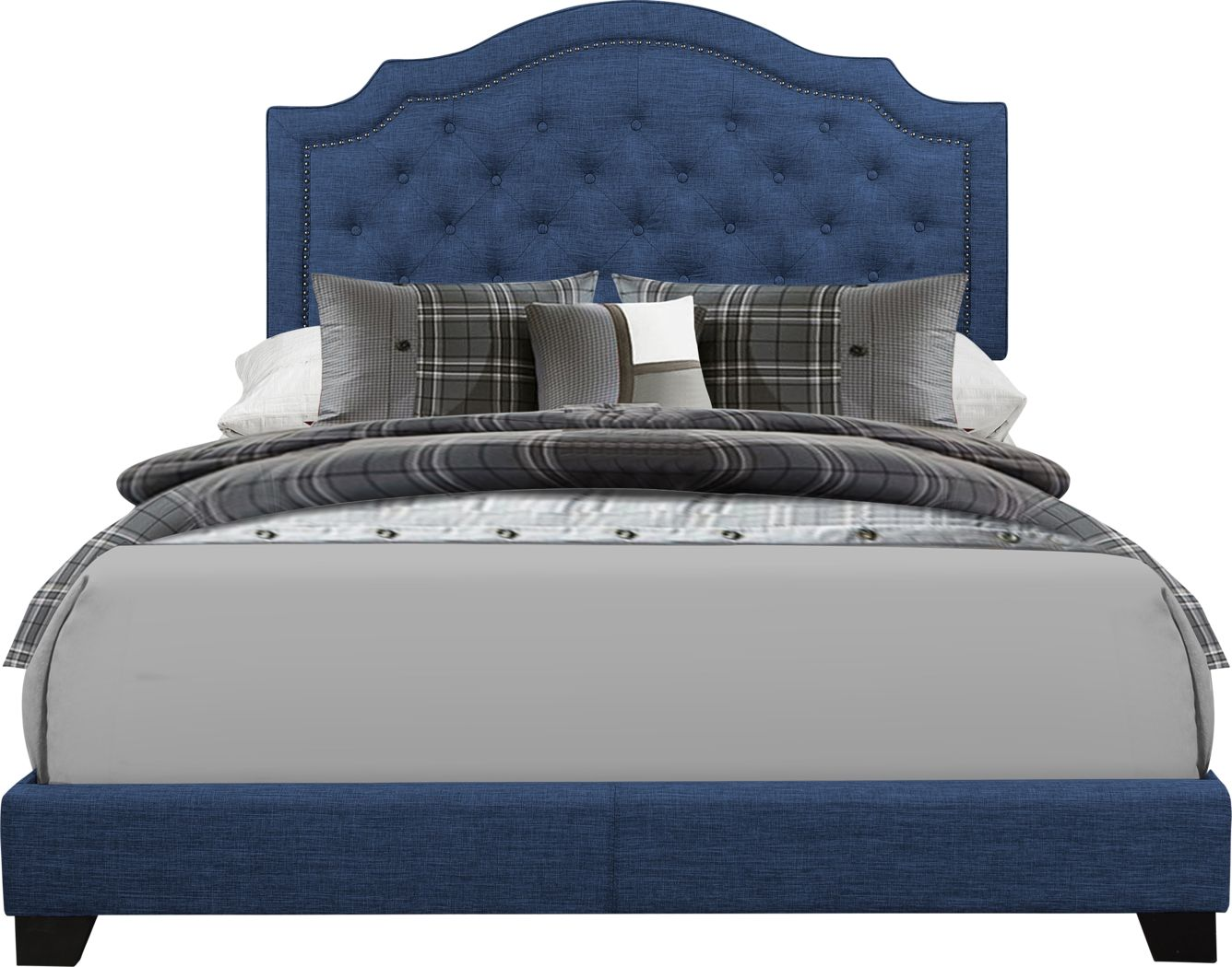 Bowerton Blue King Upholstered Bed