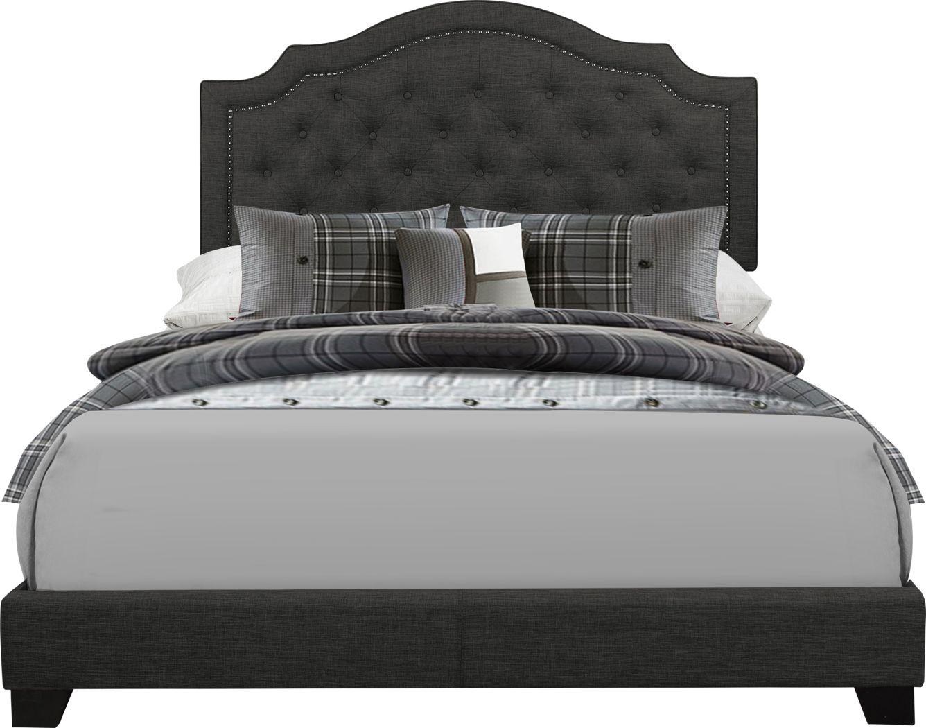 Bowerton Dark Gray King Upholstered Bed