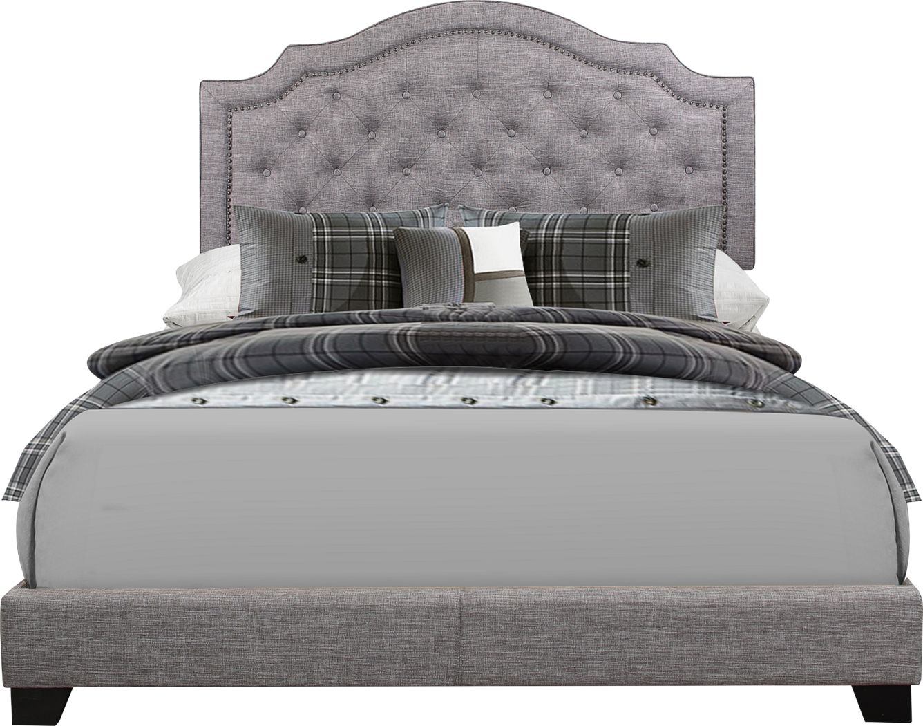 Bowerton Gray King Upholstered Bed