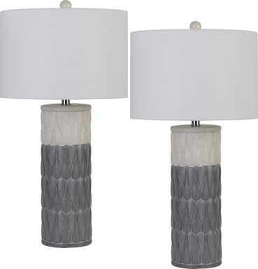 Braebury Gray Lamp, Set of 2