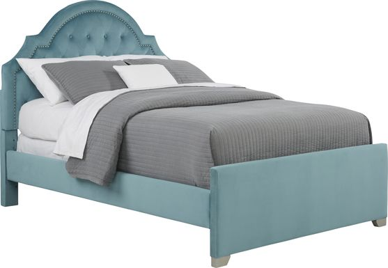 Kids Braelynn Teal 3 Pc Twin Upholstered Bed
