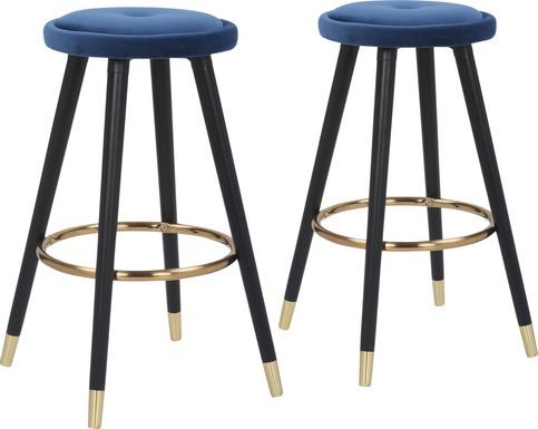 Braithwood Blue Counter Height Stool, Set of 2